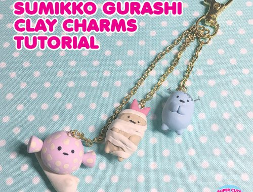 Halloween Sumikko Gurashi Clay Charm Tutorial