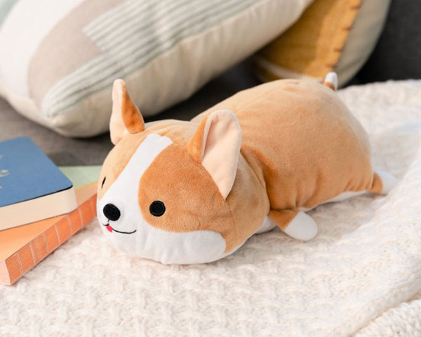 heated corgi kawaii plush