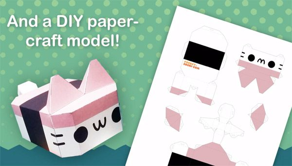 Musubi Cat plush papercraft