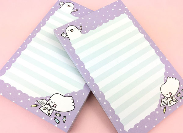 Spooky McCute kawaii ghost stationery