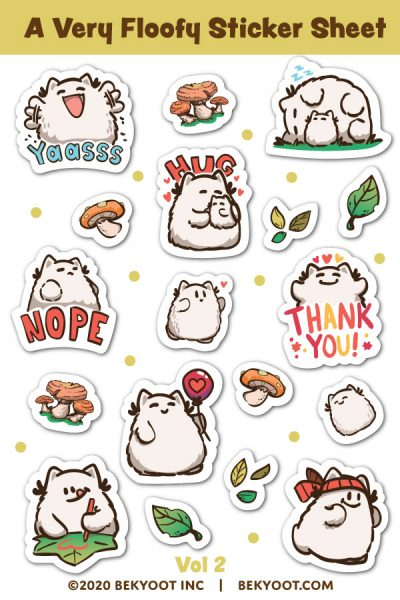 kawaii sticker sheets
