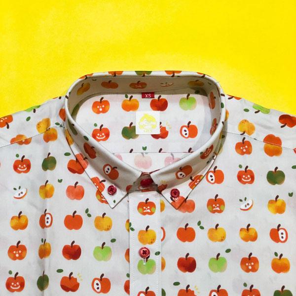kawaii apples button up shirt