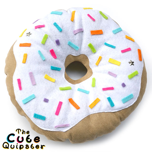 The Cute Quipster donut cushion