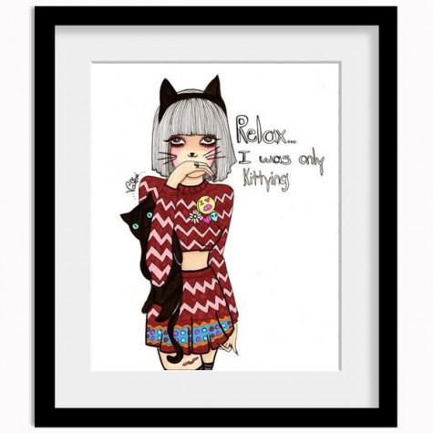 Valfre Kittying Print