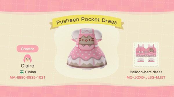 Pusheen Animal Crossing custom clothes