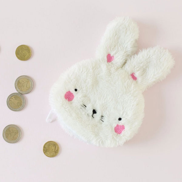 kawaii bunny plush purse