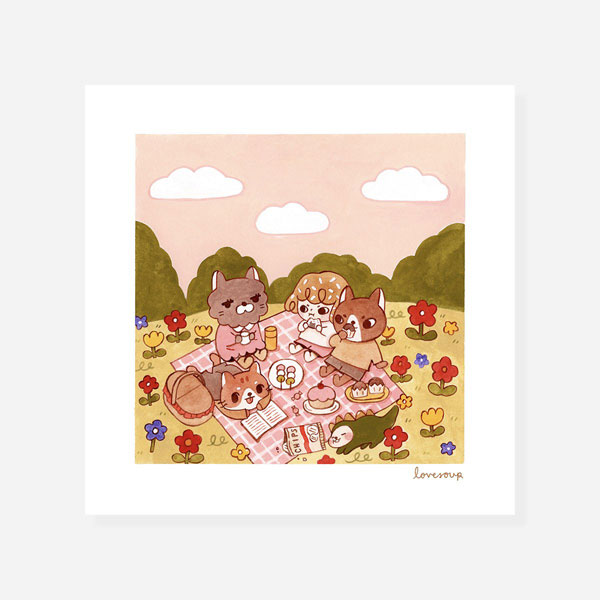 japanese picnic print