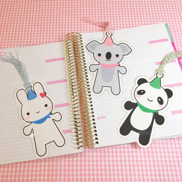 super cute kawaii free printable bookmarks