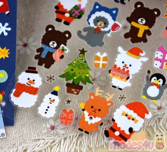 Kawaii Gift Wrapping - Christmas stickers