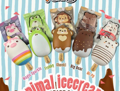 kawaii animal ice cream squishies