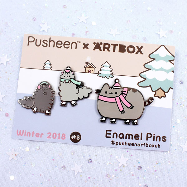 Exclusive Pusheen x ARTBOX enamel pins