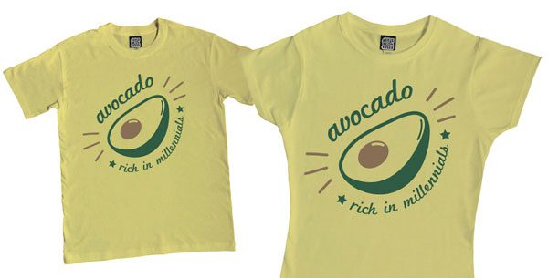 kawaii avocado t-shirt