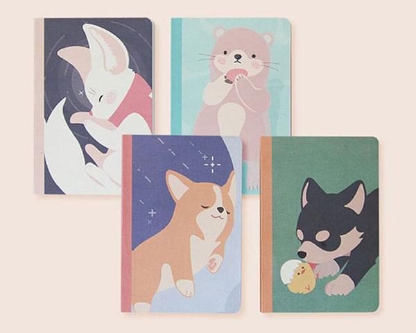 kawaii animals to-do notebooks
