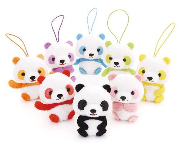 Kawaii Amuse plushies - puchimaru pandas