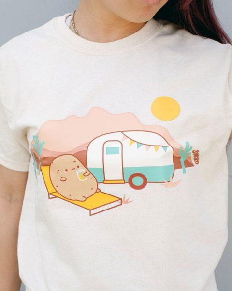 cute camping tshirt