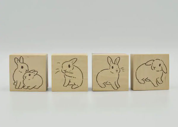 Rebekka Rabbit Design Store - bunny rubber stamps