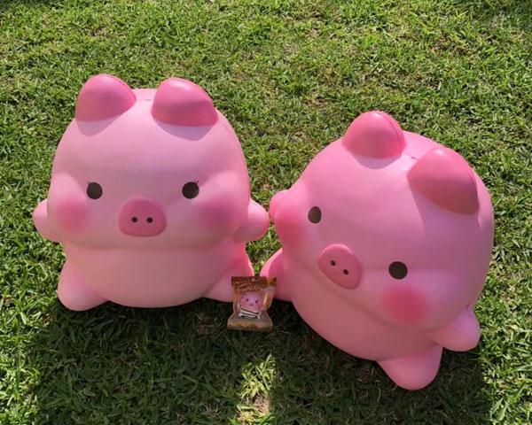 kawaii squishies - jumbo pig