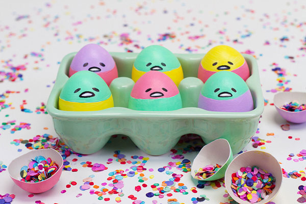 Cute Easter Crafts - Gudetama eggs
