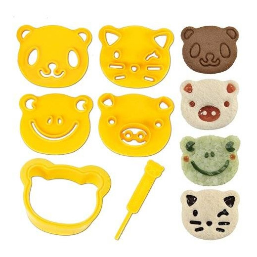 cute Veganuary treats - animal sandwich cutters
