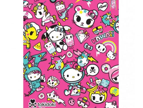 tokidoki x Hello Kitty kawaii throw blanket
