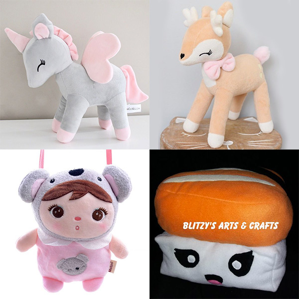 kawaii plush unicorn deer sushi