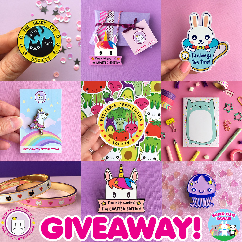 Box Monster kawaii giveaway