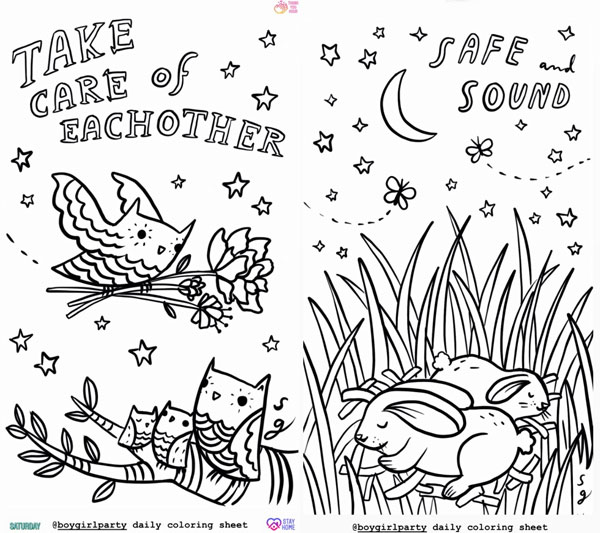 free animal colouring pages