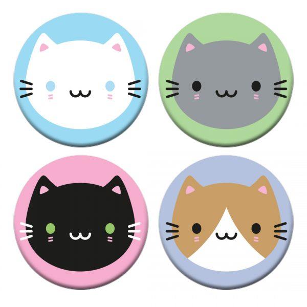 kawaii cats badges