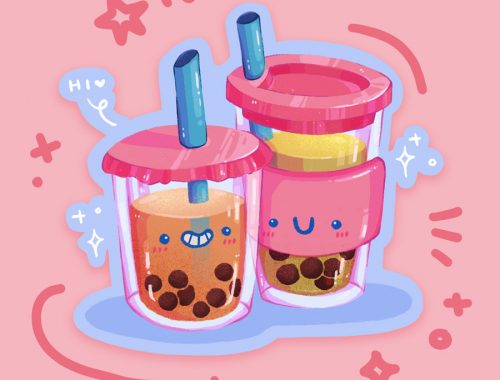 Kawaii Bubble Tea Sticker