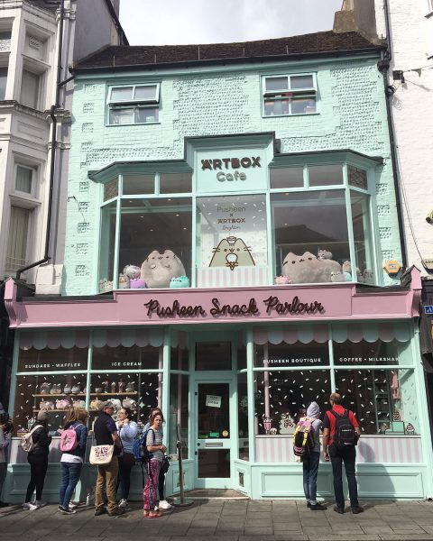 Pusheen x ARTBOX Cafe in Brighton