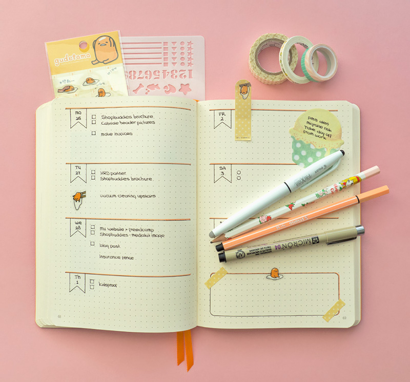 Kawaii Journalling Supplies - Natasja / @kaoani