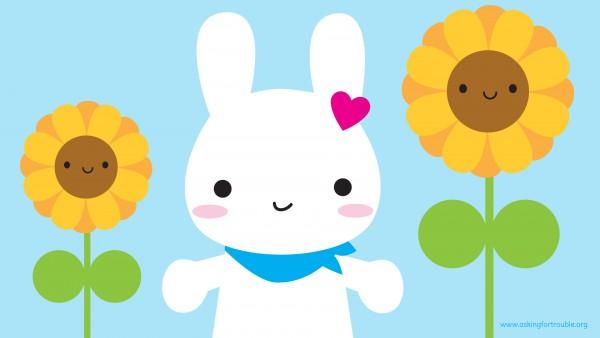 bunny-sunflowers