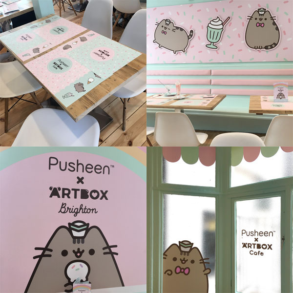 Pusheen x ARTBOX Cafe interior