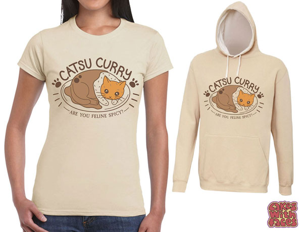 catsu curry kawaii t-shirt