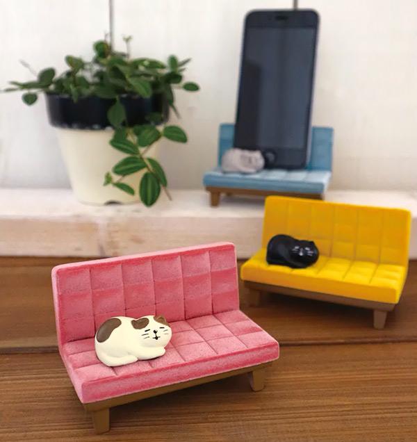 kawaii desk accessories decole cat phone stand