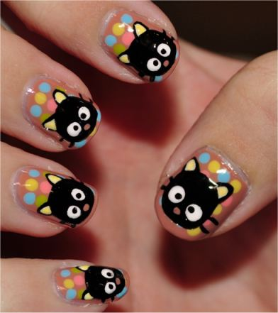 chococat nail art - cute daily