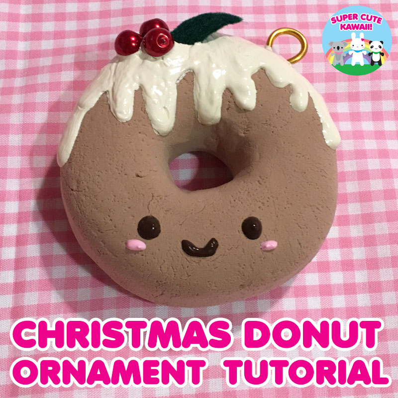 DIY Kawaii Christmas Donut Ornament