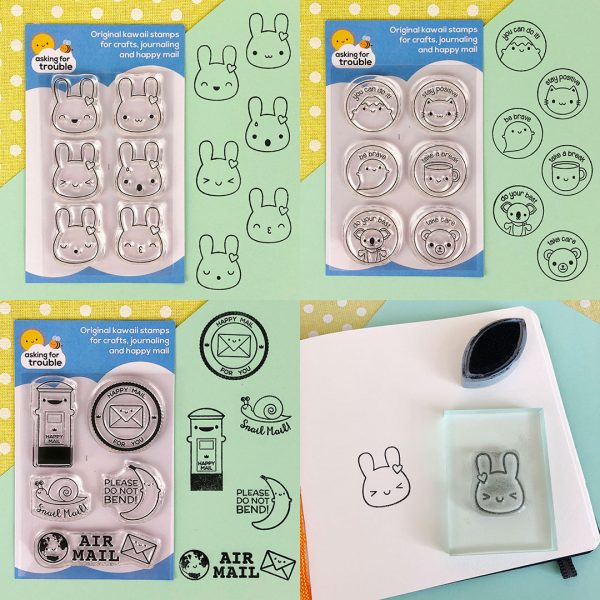 kawaii clear stamps