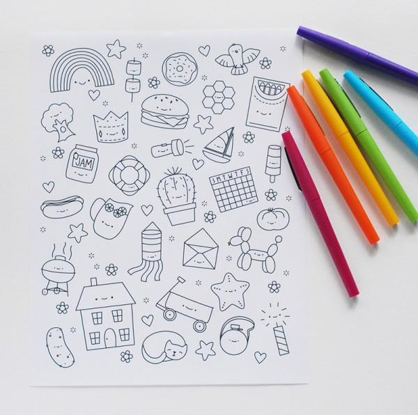 Cute Colouring Books And Printables Super Cute Kawaii