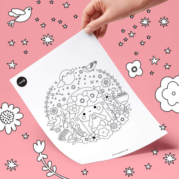 free kawaii colouring pages