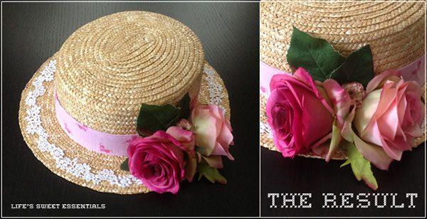 lolita straw hat DIY