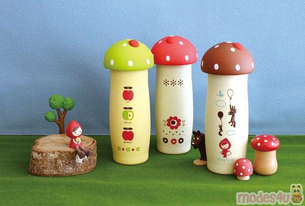 Kawaii fairytale mushroom flasks