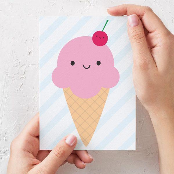 kawaii ice cream cards