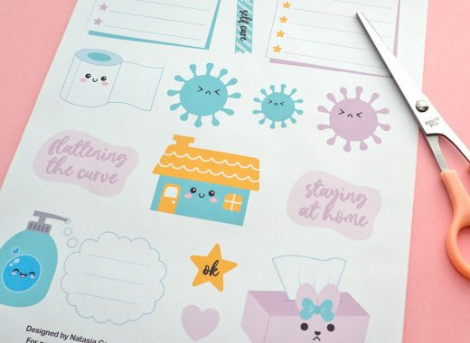 Coronavirus Printable Stickers For Journaling