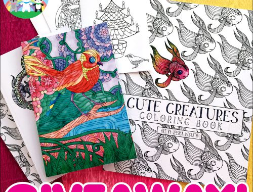 Cute Creatures coloring book giveaway