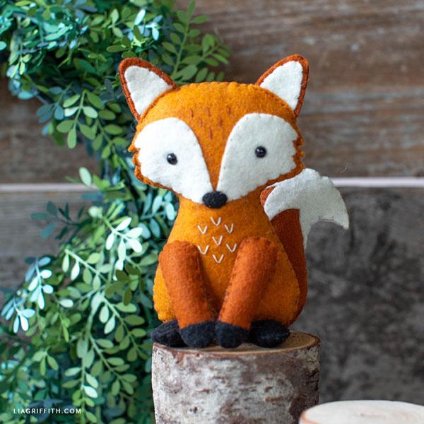 kawaii fox free felt sewing patterns