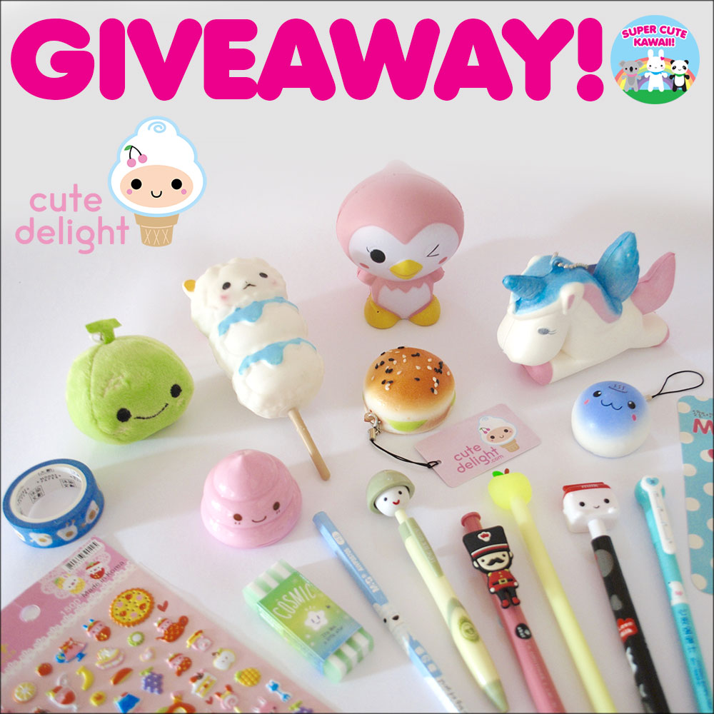 cute delight kawaii stationery giveaway