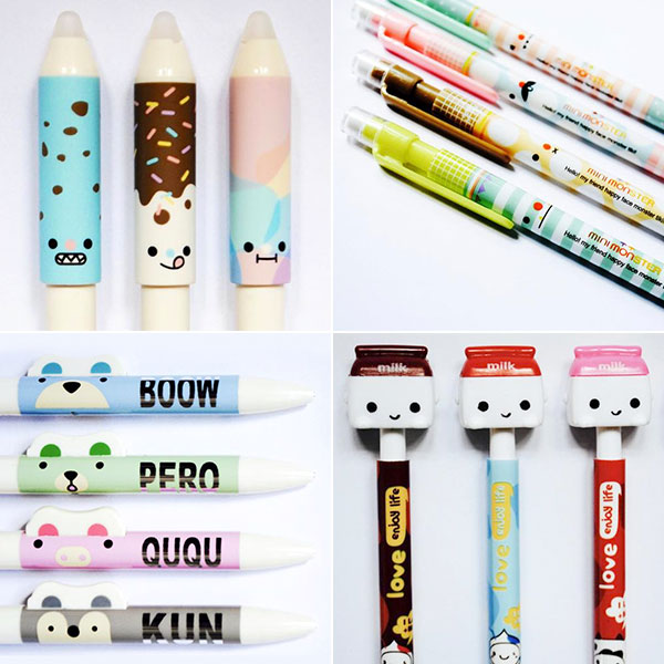 kawaii pens and pencils
