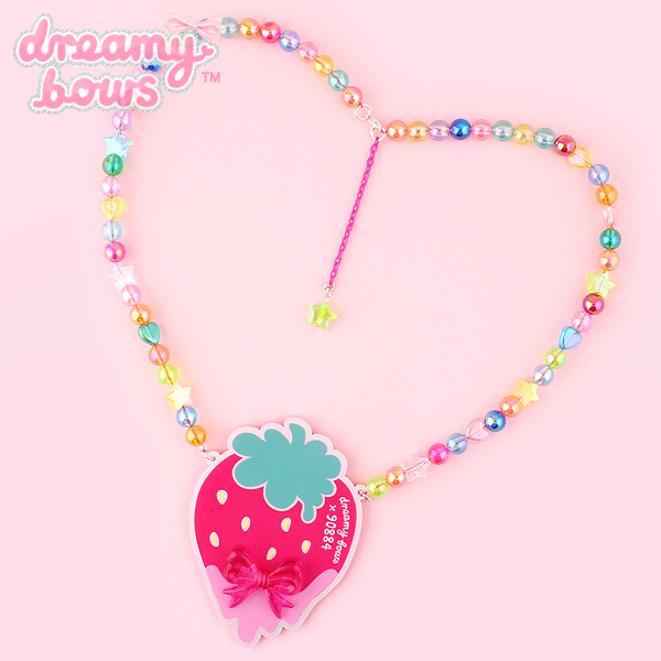 kawaii strawberry necklace