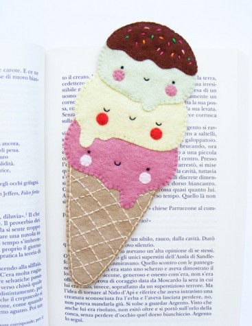 ice cream bookmark